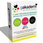 7.Sınıf Tüm Dersler Görüntülü Eğitim Seti 45 DVD
