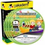 İlköğretim 2.Sınıf Matematik Görüntülü Eğitim Seti 5 DVD