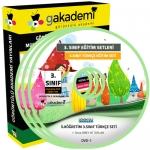 İlköğretim 3.Sınıf Türkçe Görüntülü Eğitim Seti 8 DVD