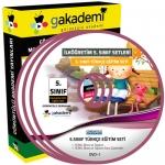 İlköğretim 5.Sınıf Türkçe Görüntülü Eğitim Seti 8 DVD