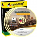 İlköğretim 6.Sınıf Sosyal Bilgiler Görüntülü Eğitim Seti 7 DVD