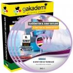 İlköğretim 8.Sınıf Fen ve Teknoloji Görüntülü Eğitim Seti 8 DVD