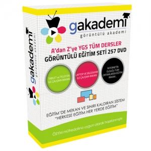 A'dan Z'ye YGS Görüntülü Eğitim Seti Tüm Dersler 238 DVD + Kitap