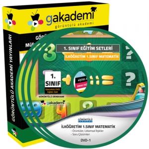 İlköğretim 1.Sınıf Matematik Görüntülü Eğitim Seti 3 DVD
