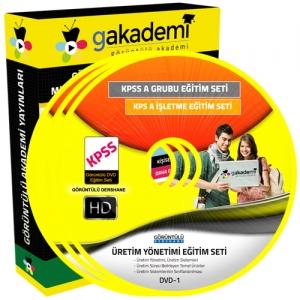 KPSS Üretim Yönetimi Görüntülü Eğitim Seti 6 DVD