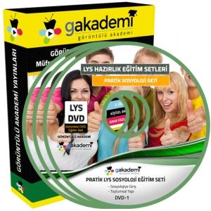 LYS Sosyoloji Çözümlü Soru Bankası Eğitim Seti 5 DVD