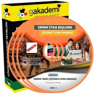 SMMM Staja Başlama Tarih Çözümlü Soru Bankası Eğitim Seti 4 DVD