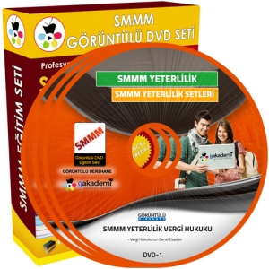 SMMM Yeterlilik Vergi Hukuku Görüntülü Eğitim Seti 8 DVD