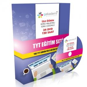 YKS TYT Tüm Dersler Görüntülü Eğitim Seti 34 DVD