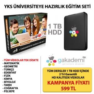 Üniversiteye Hazırlık Görüntülü Eğitim Seti 1 TB HDD