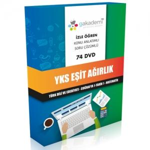 YKS Eşit Ağırlık Görüntülü Eğitim Seti 74 DVD