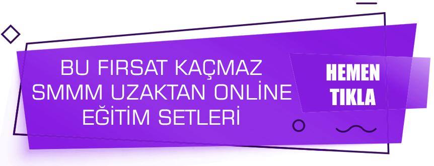 SMMM Staja Giriş ve SMMM YEterlilik Online Uzaktan Eğitim Setleri